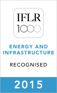 IFLR Energy & Infrastructure (2015) Recognised Firm Rosette